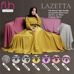 Baju Pesta Muslimah Terbaru Premium Original Lazetta by FLH