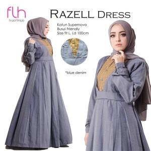 Dress Wanita Muslim Razell Original FLH