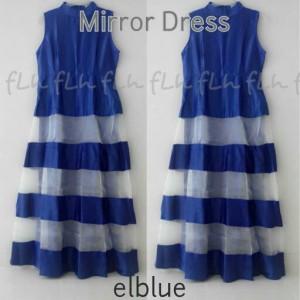 Mirror Dress Cantik Warna Biru Original