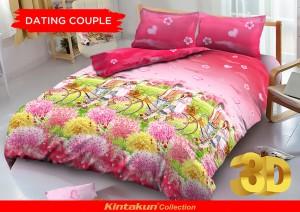 Bedcover D'luxe Kintakun ukuran 180 x 200 – Dating Couple