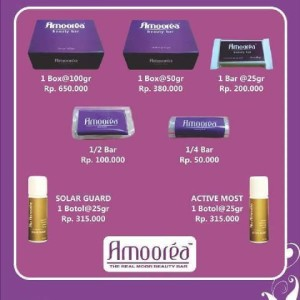 amoorea beauty bar sabun kecantikan 1/4 bar