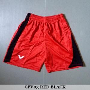 Celana Pendek Olahraga Badminton Bulutangkis Victor CPV03 Red Black
