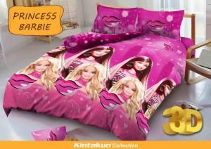 Sprei D'luxe Kintakun ukuran 180 x 200 – Princess Barbie