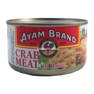 Kepiting Air Garam Kalengan Ayam Brand Crab Meat in Brine 170g