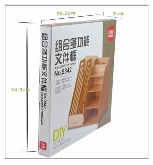 DIY Stationery Rack Rak Kayu Rak Portable Murah .