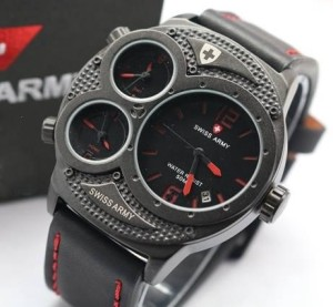 Jam Tangan Pria Swiss Army TR02 Leather