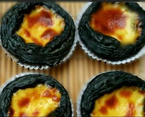Charcoal Portuguese Egg Tart
