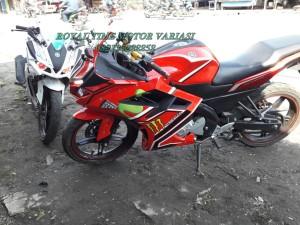 Fairing CBR 250RR + Tangki New Vixion Red Sponsored