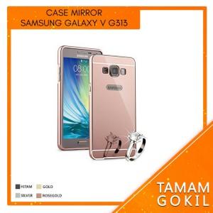 Case Mirror Samsung Galaxy V G313 Metal Bumper With Backslide Mirror