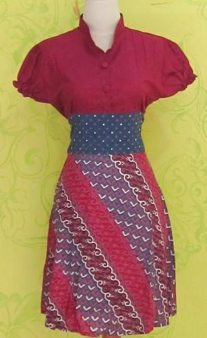 Dress Batik Katun Primis LYNNE BINTIK SUDUT ^^