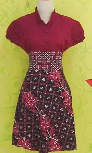 Dress Batik Katun Primis LYNNE BUNGA BESAR ^^