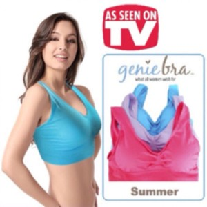 COLOURFUL SUMMER GENIE BRA SET ( isi 3 per box )