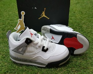the best attitude 4a0cc 1a2fd ... promo code for air jordan 4 retro white cement bt nike original sepatu  anak kids 7b3a4
