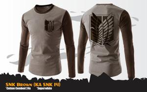 Kaos Anime Attack On Titan SNK Brown Special T-Shirt (KA SNK 14)
