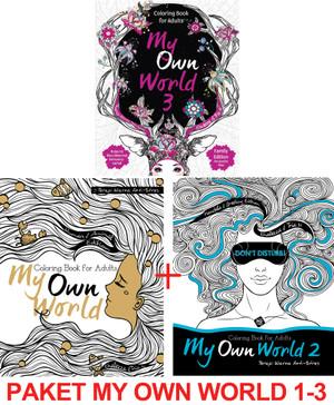 Jual Paket My Own World Coloring Book For S Buku Mewarnai