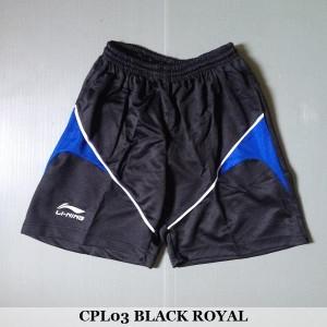 Celana Pendek Olahraga Badminton Bulutangkis Lining CPL03 Black Royal