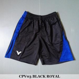 Celana Pendek Olahraga Badminton Bulutangkis Victor CPV03 Black Royal