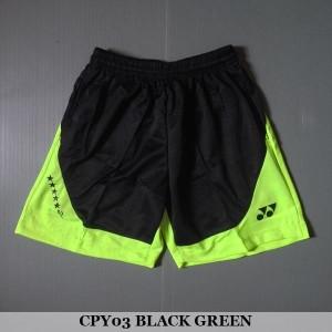 Celana Pendek Olahraga Badminton Bulutangkis Yonex CPY03 Black Green