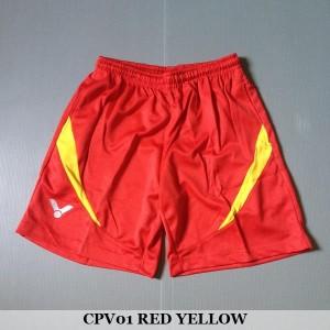 Celana Pendek Olahraga Badminton Bulutangkis Victor CPV01 Red Yellow