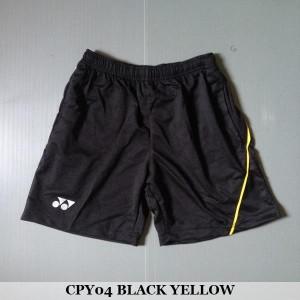 Celana Pendek Olahraga Badminton Bulutangkis Yonex CPY04 Black Yellow