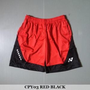 Celana Pendek Olahraga Badminton Bulutangkis Yonex CPY03 Red Black