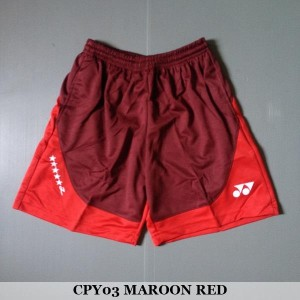 Celana Pendek Olahraga Badminton Bulutangkis Yonex CPY03 Maroon Red