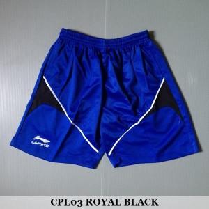 Celana Pendek Olahraga Badminton Bulutangkis Lining CPL03 Royal Black