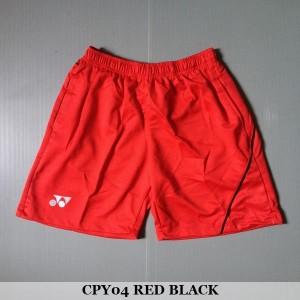 Celana Pendek Olahraga Badminton Bulutangkis Yonex CPY04 Red Black