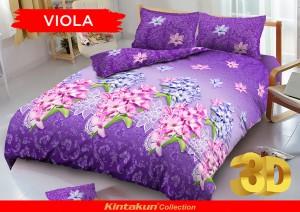 Bedcover D'luxe Kintakun ukuran 180 x 200 – Viola