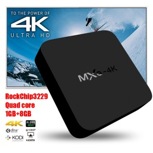 TV Box Android Smart MXQ 4K RK3229 1G/8G H.264/H.265, Keren Gan!