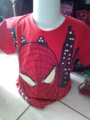 kaos adem spiderman murah bermerk berkualitas untuk anak anak