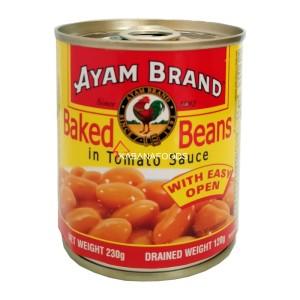 Kacang Panggang Kalengan Ayam Brand Baked Beans 230g