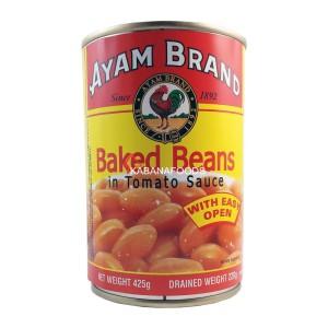 Kacang Panggang Kalengan Ayam Brand Baked Beans 425g