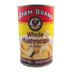 Jamur Air Garam Kalengan Ayam Brand Whole Mushroom in Brine 420g