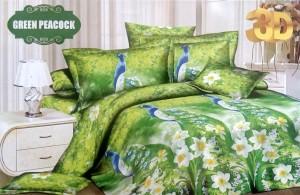 Bedcover D'luxe Kintakun ukuran 180 x 200 – Green Peacock