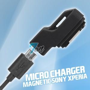 MICRO USB MAGNETIC CHARGER SONY XPERIA Z ULTRA Z1 COMPACT Z2 MINI Z3 - Hitam