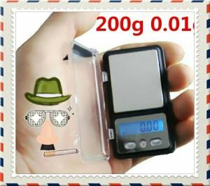 Timbangan Digital Super Mini Akurasi Tinggi 200gram 0.01