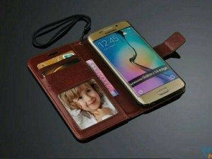 Flipcase Hardcase Leather case S6 EDGE