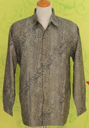 Hem Kemeja Batik SANWOSH GRADASI HITAM