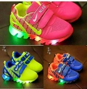 Sepatu LED Nike Branded / Sepatu LED Anak / Sepatu LED Murah