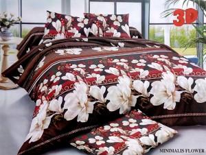 Bedcover Disperse Motif Minimalis Flower – ukuran 180 x 200 / King / N