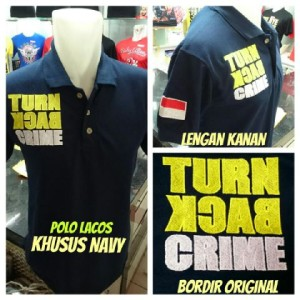 GROSIR Kaos Polo TURN BACK CRIME