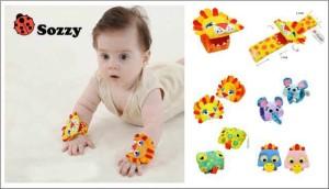Gelang Tangan Baby / Sozzy Wrist Rattle ( 2pc )