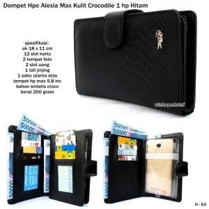 dompet model hp alexia max kulit crocodile 1 hp hitam