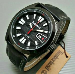Jam Tangan Pria Timberland Leather Black