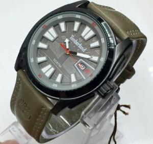 Jam Tangan Pria Timberland Leather Grey