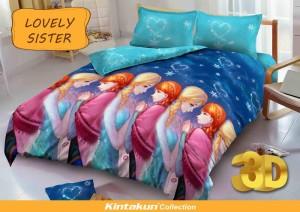 Sprei D'luxe Kintakun ukuran 120 x 200 – Lovely Sister