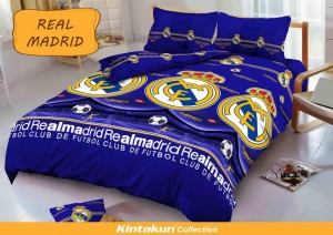 Sprei D'luxe Kintakun ukuran 120 x 200 – Real Madrid