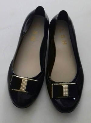 Jelly Shoes Wedges Pita Gold