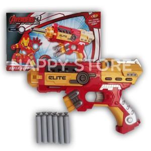 Nerf Gun Soft Bullet Blaster Ironman / Senjaga Ironman / Avenger